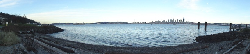 the Seattle Skyline from Beautiful Vashon Island